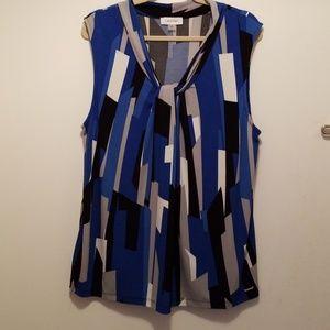 Calvin Klein Sleeveless Shell Plus Size 1X